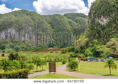 The mountains at the Vinales Valley in Cuba
