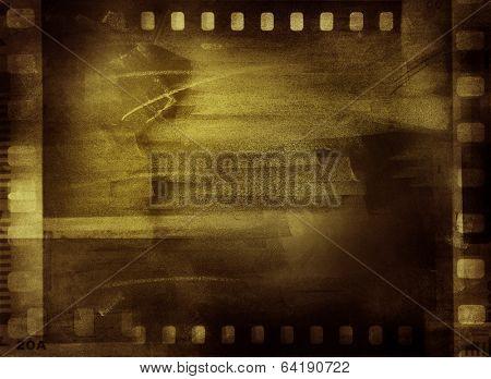 Film negative frames, copy space