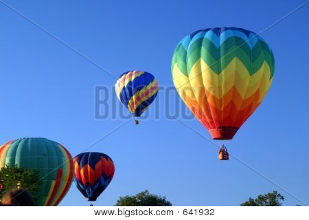 Hot Air Ballooning Mass Ascension Sky