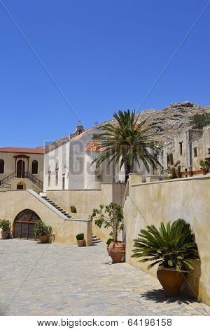 Monastery In Crete, Greece