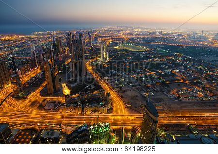 Downtown of Dubai (United Arab Emirates) in the morning