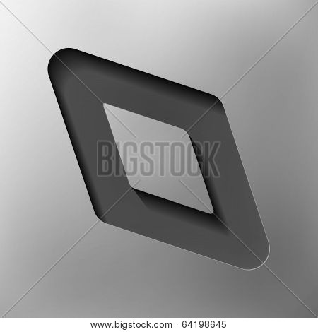 parallelogram, abstract icon, vector style