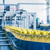 image of assembly line  - drinks production plant in China - JPG