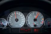 pic of acceleration  - car dashboard close up photo - JPG