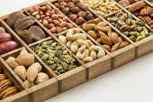 picture of pecan  - nuts and seed collection  - JPG