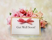 stock photo of get well soon  - Hand - JPG