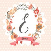 foto of monogram  - Personalized monogram in vintage colors - JPG