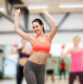 image of cardio exercise  - fitness and diet concept  - JPG