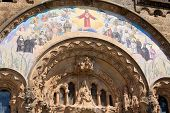 foto of sacred heart jesus  - Detail of Expiatory Church of the Sacred Heart of Jesus on Tibidabo mountain - JPG