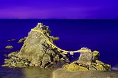 Meoto Iwa Rocks, Futami, Mie Prefecture, Japan. Known in  English as the