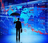 foto of economics  - Business People on Economic Crisis - JPG