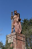 stock photo of braveheart  - The famous Dryburgh monument to William  - JPG