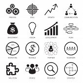 stock photo of swot analysis  - Strategy concept icons - JPG