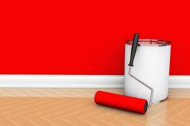 picture of plinth  - Painting of walls in a red color - JPG