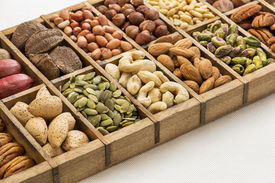 stock photo of pine nut  - nuts and seed collection  - JPG