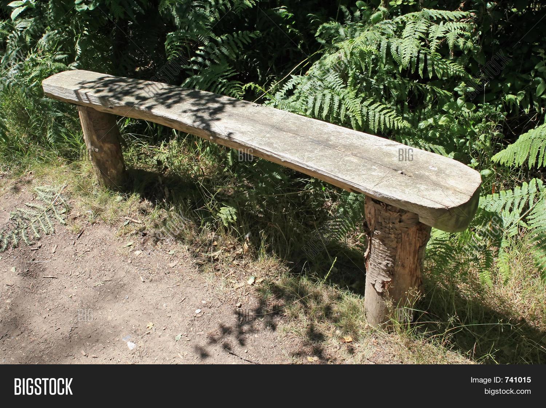Tree Stump Bench Image Photo Bigstock