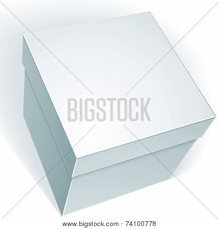 blank box isolated on white background, template for your package design, put your image over the pa