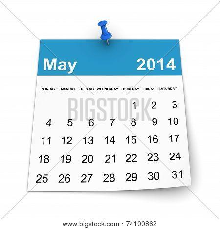 Calendar 2014 - May
