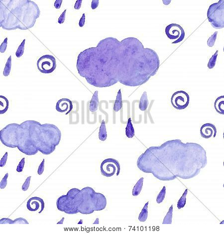 Hand paint  watercolor drops pattern