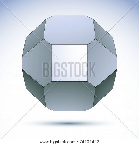 abstract 3D spherical object created from geometric figures