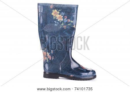 Stylish printed wellington boots.