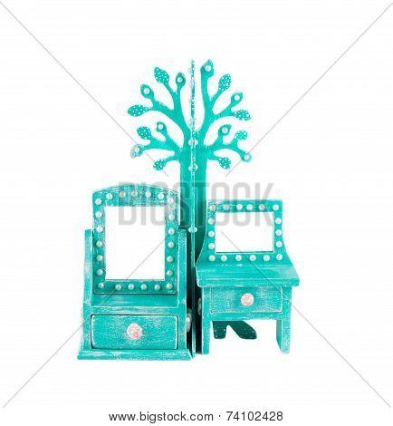 Handmade blue bureau.