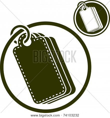 Tag retail theme icon isolated on white background, includes invert version for you to choose.