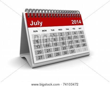 Calendar 2014 - July