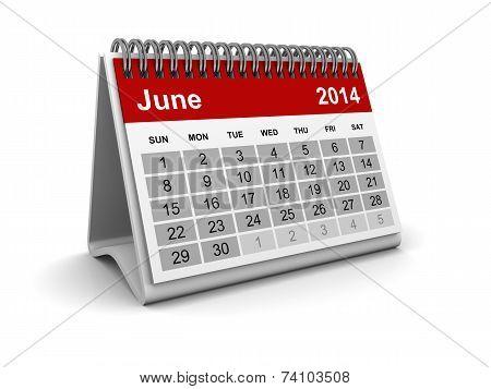 Calendar 2014 - June
