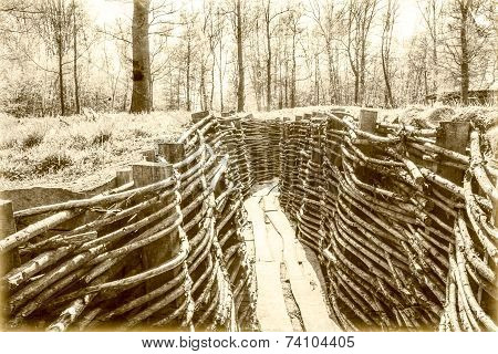 World War One Trench Belgium Flanders
