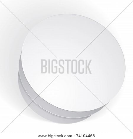 Blank Round Box Isolated On White Background, Template For Your Package Design, Put Your Imag