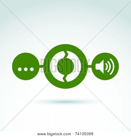 Analyzing data and info, information collecting and exchange theme icon, conceptual unusual symbol f