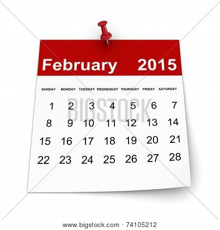 Calendar 2015 - February