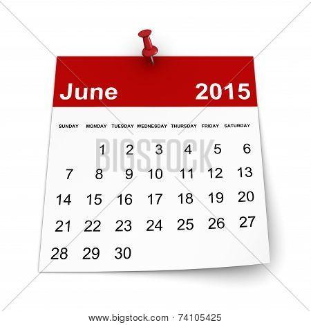 Calendar 2015 - June