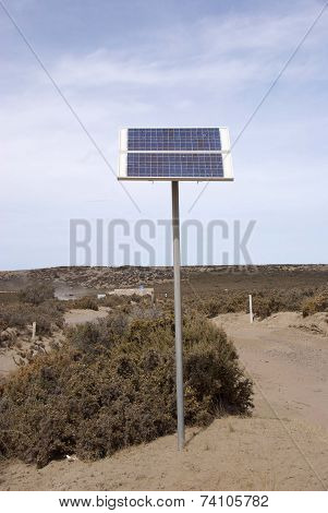 Solar panel in Patagonia