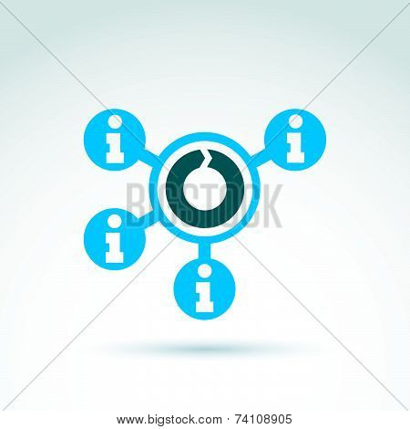 Information collecting and exchange theme icon, conceptual unusual symbol for your design.