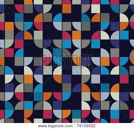 Colorful Geometric Background, Squared Abstract Futuristic Seamless Pattern.