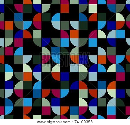 Vector colorful geometric background, squared abstract futuristic seamless pattern.