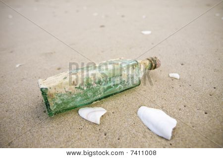Bottle Washed Up On Shore