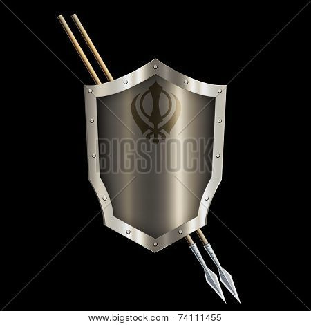 Abstract Shield And Two Spears.