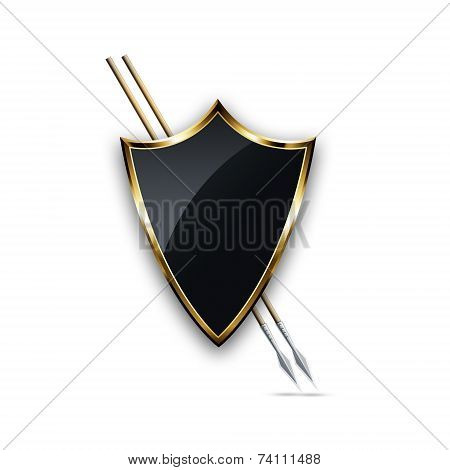 Gold Shield And Two Spears.