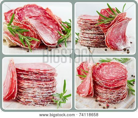 salami with herbs