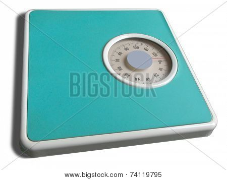 Weigh-scale on white background (isolated)