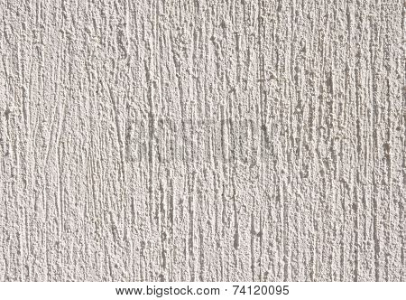 White Relief Plaster On Wall Closeup