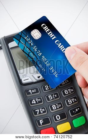 Contactless Payment Card With Nfc Chip Using With Terminal Device