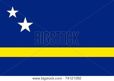 Flag Of Curacao (curaçao, Kòrsou)