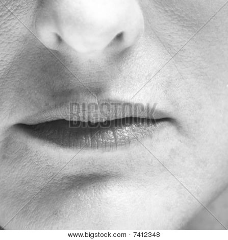 woman's mouth