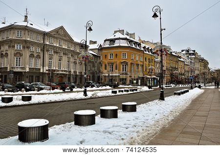Warsaw Old Town in winter