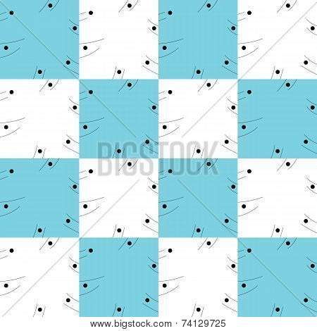 Simple texture of blue and white squares.