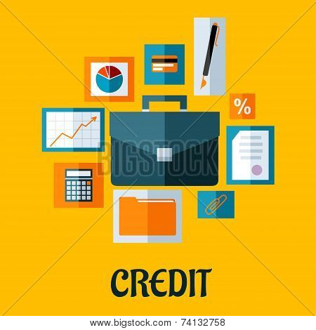 Credit concept in flat style